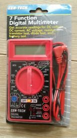 Brand New 7 function electrical testing multi meter