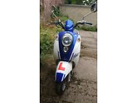 Sym moped low mileage - excellent condition