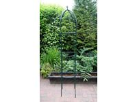 METAL GARDEN OBELISK CLIMBING FRAME - USED BUT IN GOOD CONDITION