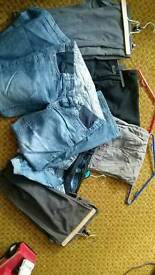Maternity trousers, jeans and shorts bundle size 10. Incl. Next, JoJo Mama Bebe and Mamas and papas.