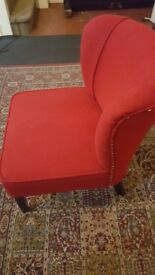 Lovely red comfy chair