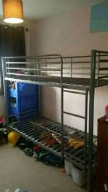 Metal Twin Size Bunk Beds. Dismantled.