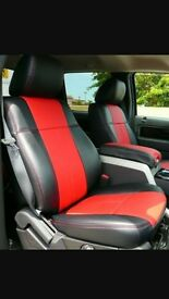 MINICAB/PRIVATE HIRE CAR LEATHER SEAT COVERS VOLKWAGEN SHARAN FORD GALAXY VAUXHALL ZAFIRA VW CADDY