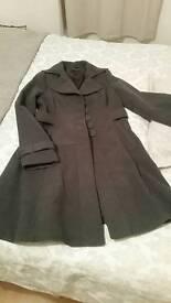 Next Ladies charcoal grey coat size 12