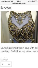 Stunning prom dress size 4/6