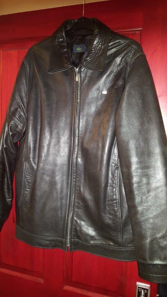 b4fa705e6 Lacoste Men's Leather Jacket/Coat - size S   in West Derby, Merseyside    Gumtree