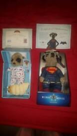 2 x Meerkat Toys
