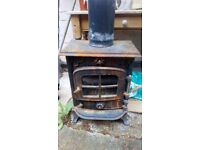 Log wood burner