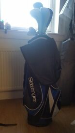 Mixed clubs, Slazenger Bag and Trolley