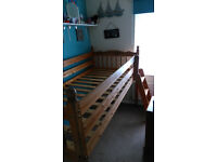 Cabin Bed. Solid wood. Antique pine.