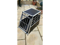 Aluminium Dog Pet Puppy Cage Kennel Travel Transport Crate Carrier BOX