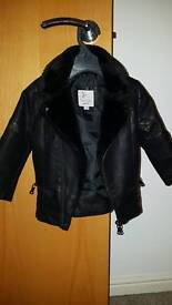 River island leather look jacket 12-18months