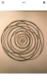 WALL ART BRONZE AND GOLD SPIRAL FROM THE RANGE