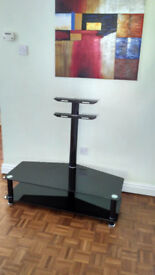Black TV stand - perfect condition