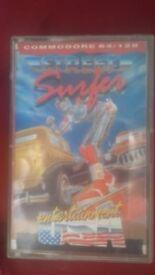 Commodore 64 retro cassette game street surfer
