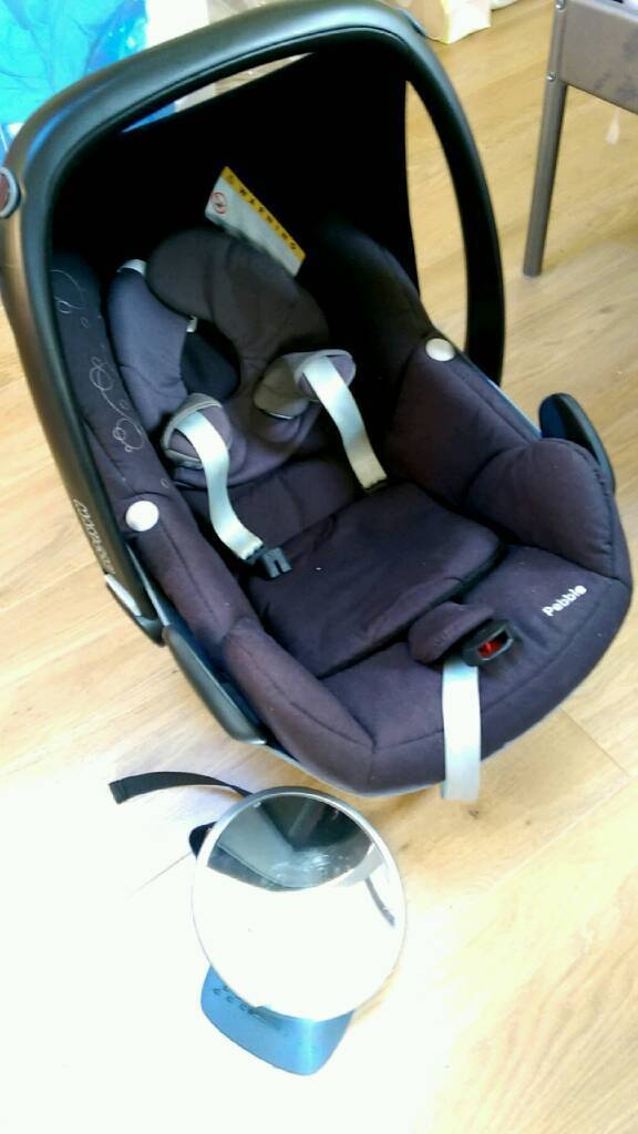 Maxi Cosi Pebble car seat with mirror