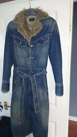 Lee denim furry coat