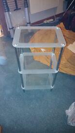 Glass and Chrome Display/Shelving unit
