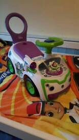 Toy story ride on car