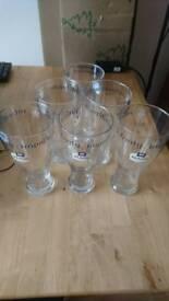 6 x PINT GLASSES