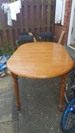 6 seater dining table extendable to 8 seater.