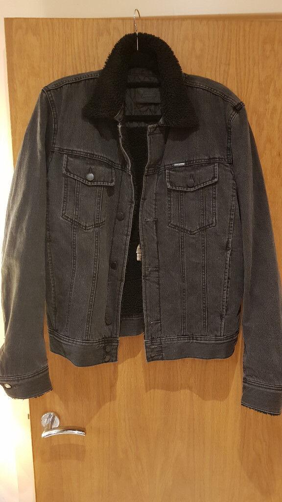 Like new Mens Diesel Fleece Lined Denim Jacket