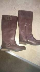 New Wool lined knee high boots