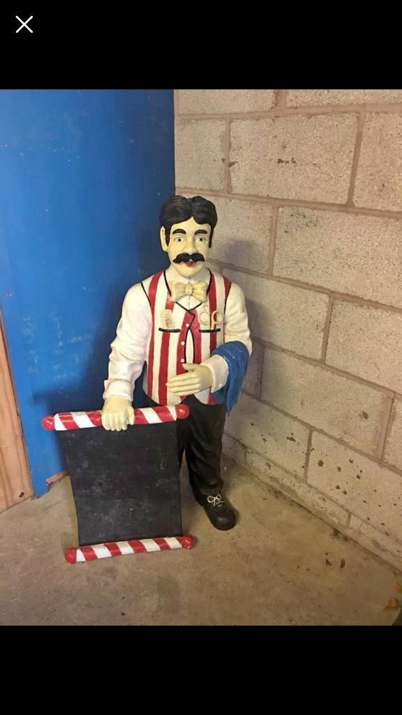3 5ft Barber Shop Resin Advertising Figure In Anfield