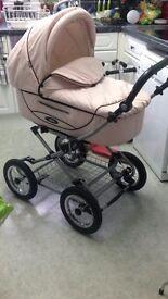 Roan Kortina Classic Pram/ Stroller in Subtle Pale Pink