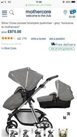 Silver Cross pioneer brompton pushchair *exclusive to mother care*
