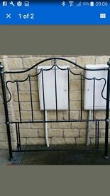 Free metal headboard for double bed