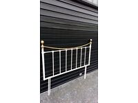 M and S brass bedstead
