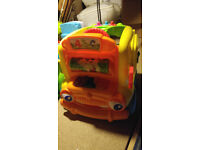 Push along activity bus toy