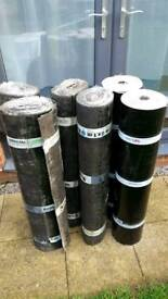Torch on roof felt set for garage or extension: 4 rolls top sheet plus 2 rolls underlay!!!