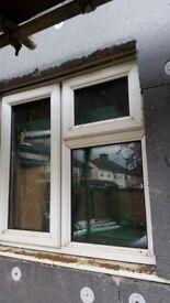 White UPVC Window - 2 opening panels