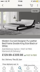 Double bed plus mattress