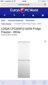 Logik Fridge Freezer - 2 years old - 150cm x 51cm