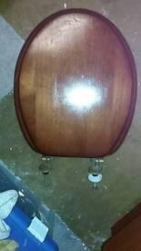 MAHOGANY SOLID WOOD TOILET SEAT