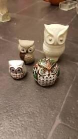 Small owl ornaments