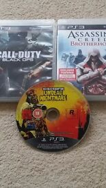 PS3 Games - Black Ops / Assassins Creed / Red Dead Redemption