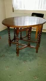 1960's Gate legged foldaway table