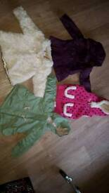 3 girls coats and 1 body warmer .. 3 jackets worn once! Perfect condition 1st to see will buy!