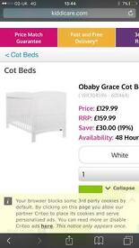 Cot bed white