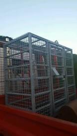 Secure metal cage fully galvanised