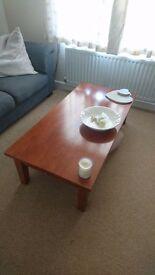 Beautiful Large Rubberwood Coffee Table