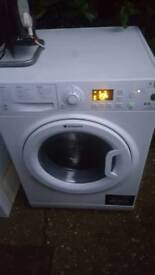 """""""AS NEW""""HOTPOINT WASHER DRYER MACHINE WDPG864 / serviced ready to go.£129.99 Offers Inv"""