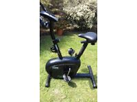 Exercise bike with a digital panel