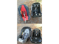 2 Full system Graco baby car seat with fully interchangeable car bases
