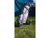 Ladies/Girls golf set including bag and trolley