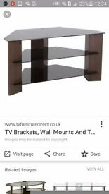 Tv stand excellent condition glass and wood